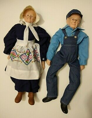 $ CDN43.26 • Buy Vintage Ceramic Grandma & Grandpa Porcelain Sitting Dolls Unsigned Wallace?