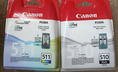 £28.50 • Buy Canon 510 511 Genuine Ink Cartridges PG-510 CL-511 For PIXMA IP2700 MP230 MX320