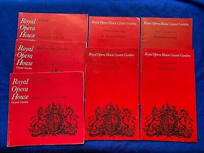£25 • Buy 1967 Seven Opera Programmes Royal Opera House One Is SIGNED X3