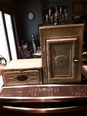 $80 • Buy Vintage Galvanized Tin Pie Safe And  Bread And Cake Box