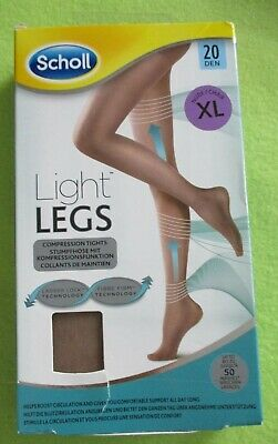 £2.59 • Buy Scholl Light Legs Compression Tights 20 Den - Nude Colour