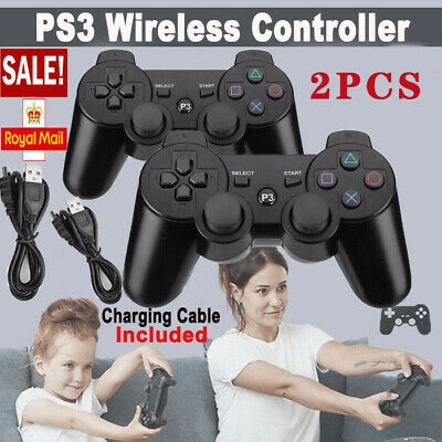 £12.99 • Buy Black 2Pcs PS3 Bluetooth Wireless Controller Control For Playstation3 UK STOCK