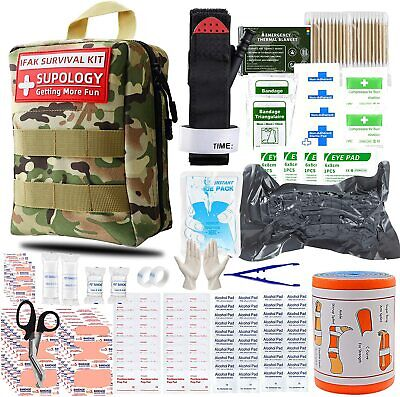 $57.58 • Buy Survival Emergency Kit First Aid Trauma Gear Military Molle Bag 285 Pieces Set