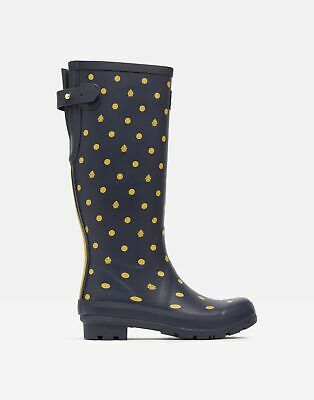 £31.96 • Buy Joules Womens Printed Wellies With Adjustable Back Gusset - Navy Ladybird