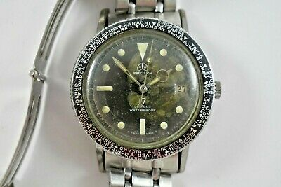 $ CDN302.48 • Buy Vintage Swiss Made Ollech & Wajs 20ATM Diver Watch W/Worldtime Bezel Runs Lot.e