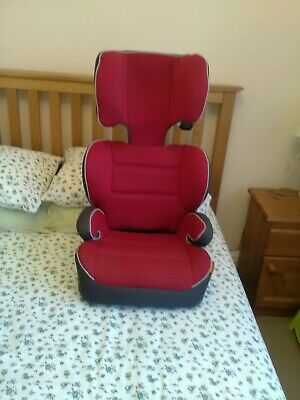 £8 • Buy Halfords Red High Back Booster Car Seat Group 2-3, 4-12 Years,15-36kg Pre Owned
