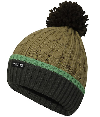 £4.86 • Buy Pro Climate Mens Reflective Hi Vis Cable Twist Knitted Beanie Pom Pom Winter Hat