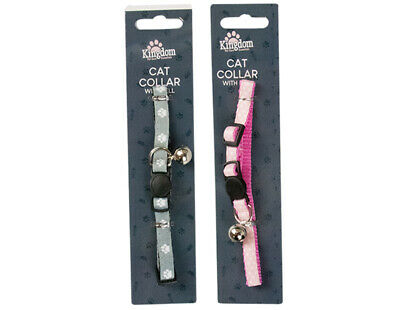 £1.75 • Buy Cute Paw Print Adjustable Bell Pet Collar Cat Small Dog Kitten Puppy Colourful