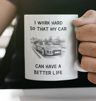 £6.99 • Buy Novelty Gift Coffee Mug Birthday Father's Day Jaguar Car - CAN BE PERSONALISED