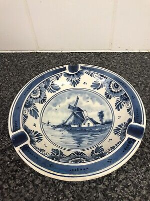£3.80 • Buy Delft Ashtray Windmill Hand Painted Antique