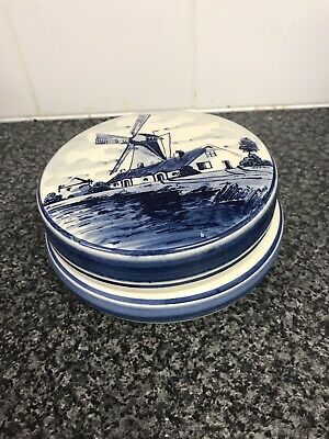 £5 • Buy Delft Bowl With Lid Windmill