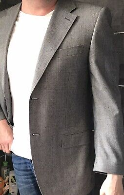 £10 • Buy Canali Gray Blue Glenplaid POW Prince Of Wales Jacket Blazer UK 44 IT 54