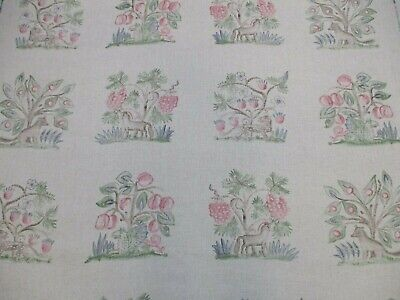 £96.50 • Buy Andrew Martin Curtain Fabric 'HEDGEROW - CERISE' 3.4 METRES (340cm) Linen Blend
