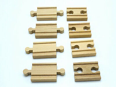 $12.95 • Buy 8 Piece Wooden Train Track 2  Adapters Gender 4-M/M 4-F/F Fits Thomas Brio More