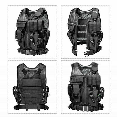 $35.99 • Buy Military Army Tactical Vest Gun Holder Molle Combat Assault Police Hunting Gear