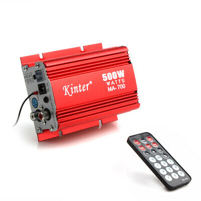 $21.15 • Buy Kinter MA-700 Car Motorcycle 2 Channels Audio AMP Amplifier+ Remote Control NEW