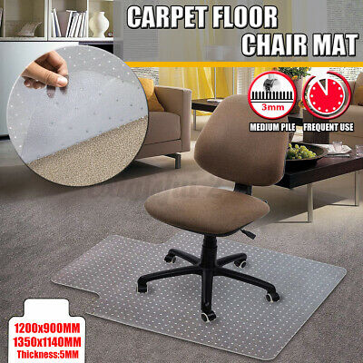 £18.88 • Buy Non-Slip Spiked Office Chair Desk Mat Floor Computer Carpet Protector PVC Clear