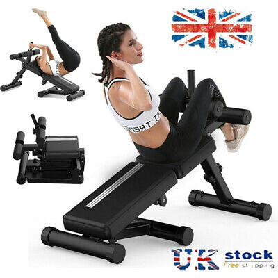 £68.99 • Buy Sit Up Bench Ab Abdominal Exercise Gym Crunch Machine Board Foldable Roller UK