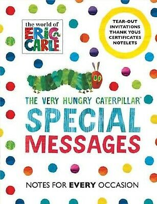 £4.95 • Buy NEW ERIC CARLE SPECIAL MESSAGE INVITATIONS  Hungry Caterpillar THANK YOU NOTES