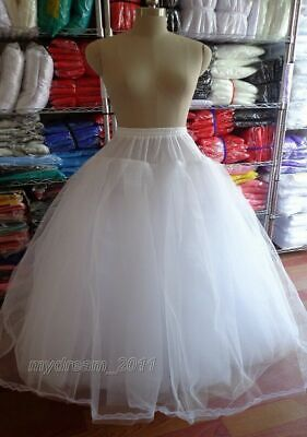 £106 • Buy 3 Or 8 Layers White Tulle Hoopless Wedding Dress Underskirt/Underdress Petticoat