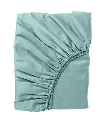 £22.99 • Buy Ikea NATTJASMIN Turquoise Fitted Sheet ✅DOUBLE 🔝 NEW 135X190X26cm FAST DELIVERY
