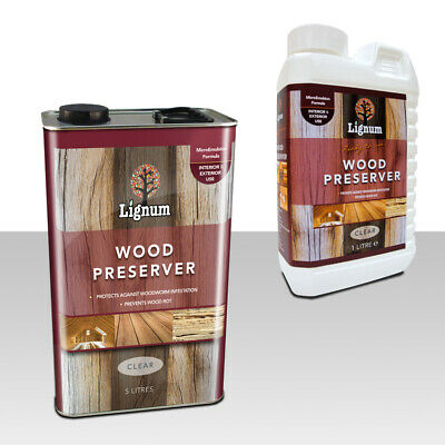 £24.49 • Buy Lignum Wood Preserver Woodworm Wet & Dry Rot Prevention Timber Treatment Clear