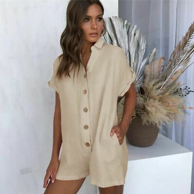 AU29.50 • Buy Cocktail Romper Playsuit Pants Ladies Trousers Jumpsuits Overall Party Womens