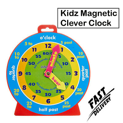 £5.29 • Buy Children Learning Toy Magnetic Clock Watches Children Boys Girls Educational