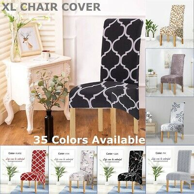 AU9.99 • Buy XL Dining Chair Covers Large Chair Seat Slipcover Removable Banquet 1/4/6Pcs AU