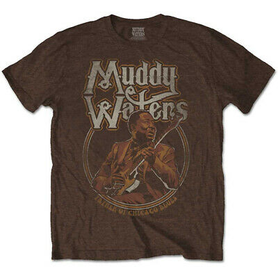 £13.99 • Buy Muddy Waters 'Father Of Chicago Blues' (Brown) T-Shirt - NEW & OFFICIAL!