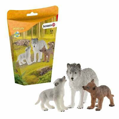 £11.69 • Buy Schleich Wild Life Mother Wolf With Pups 42472 3 Figure Set