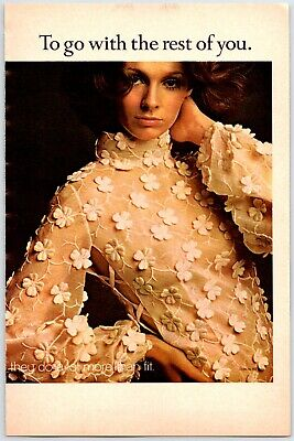 $5 • Buy PRETTY YOUNG WOMAN SHEER DRESS Vintage 1960's 6  X 9  Magazine Ad M14
