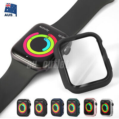 AU6.95 • Buy For Apple Watch IWatch Series SE 6 5 4 3 2 1 Case Full Glass Cover 38 40 42 44mm