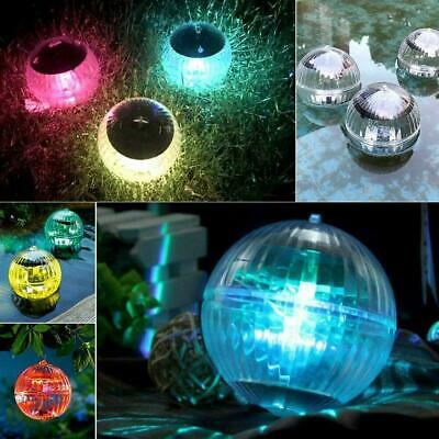 £4.47 • Buy Outdoor Solar LED Floating Fountain Lights Garden Pond Pool Color Changing NEW