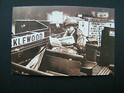 £1 • Buy Nostalgia Postcard Of Woman Reading 'Suffragette' On Top Of London Bus, C1913