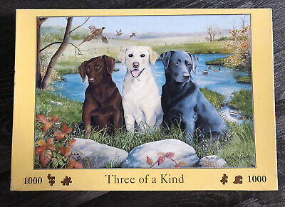 £7.99 • Buy House Of Puzzles Three Of A Kind 1000 Piece Jigsaw Puzzle - Complete. Retrievers