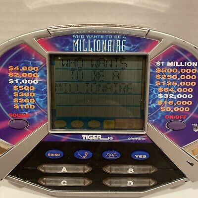 £9.87 • Buy Vintage Tiger Who Wants To Be A Millionaire Handheld Video Game Tested 2000