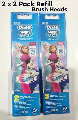 AU25 • Buy Oral-B Stages Frozen Replacement Electric Toothbrush Heads Refills 2 X 2 Packs