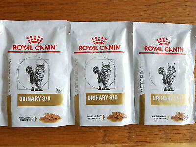 £4.99 • Buy Joblot 3 X Royal Canin Urinary S/O Feline Wet Cat Food 85g Pouches - FREE POST