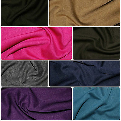 £4.79 • Buy Ponte Roma Soft Knit Jersey Stretch Fabric Polyester Viscose Fabric 150cm Wide