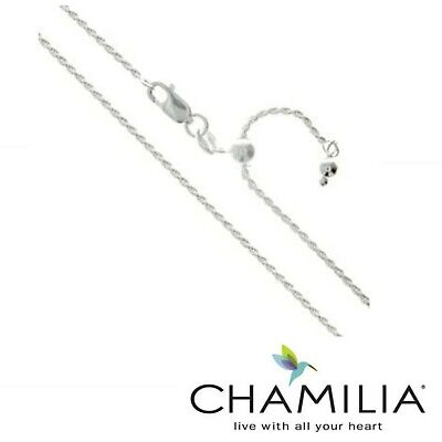 £22.99 • Buy Genuine Chamilia Sterling Silver 925 Twist Chain Adjustable Length Necklace 70cm