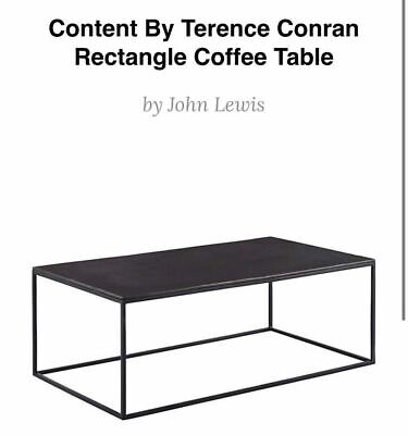 £350 • Buy Content By Terence Conran Fusion Rectangle Coffee Table Brand New