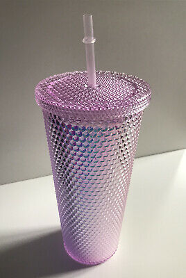 £10.99 • Buy Tumbler | Studded | Pink |Bling| Cold Cup With Straw |24oz