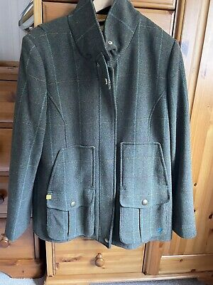 £100 • Buy Joules Mr Toad Field Coat Green Tweed Jacket Country Sports - Size 16 RRP £249