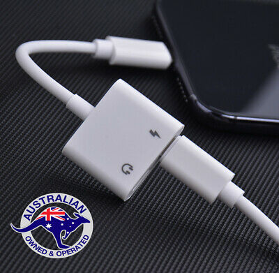 AU8.95 • Buy 2 In1 Dual Adapter Charger Headphone Splitter + Audio FOR IPhone 11 7 8 X XS Max
