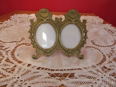 £20 • Buy Heavy Antique Solid Brass Rococo Baroque Ornate Double Oval Photo Frame