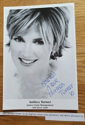 £7.95 • Buy ANTHEA TURNER Autograph Signature 8 X6  Photocard Blue Peter Perfect Housewife