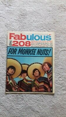 £20 • Buy Fab 208 Mag The Monkees Special 11th March 1967
