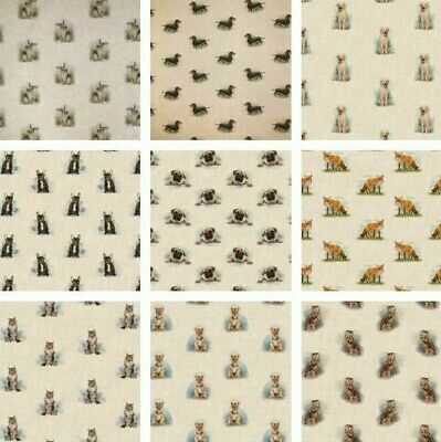 £9.89 • Buy Animal Linen Look Cotton Rich Fabric All Over Upholstery