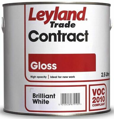 £19.99 • Buy 2.5L Leyland Contract Gloss - Brilliant White - 306353